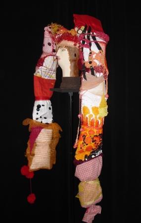 Pippi Långstrump, marotte et chapeau 137x65x20 cm